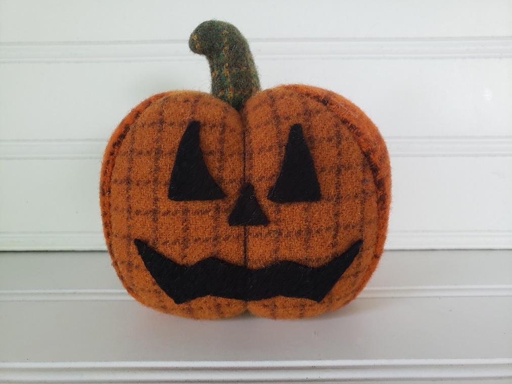 Wool Halloween Jack O Lantern