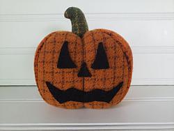#f166 Wool Halloween Jack O Lantern