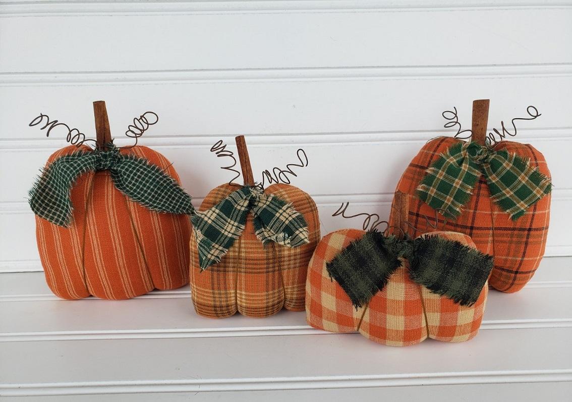 Fall Homespun Pumpkins