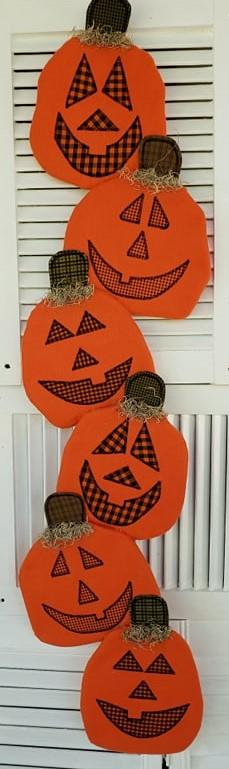 Halloween Pumpkin Door Greeter