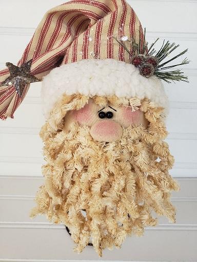 Primitive Santa Nodder