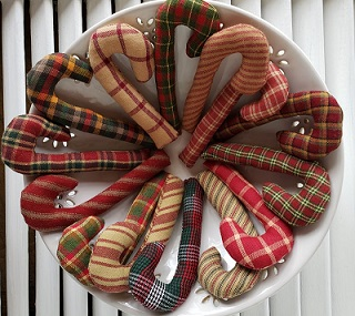 Candy Cane Ornament Set