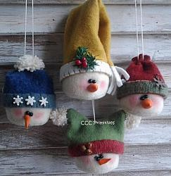 Adorable Snowmen Ornaments