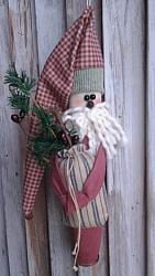 All Buttoned Up Santa Ornament Pattern