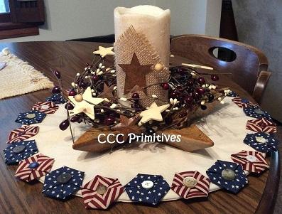 Americana Candle Mat
