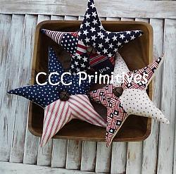 Americana Patchwork Stars Pattern