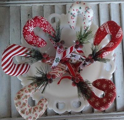 Candy Cane Ornament or Bowl Filler
