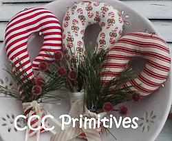 Candy Cane Ornament Pattern