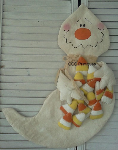 Candy Corn Ghost Door Greeter