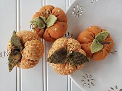 Diamond Textile Orange Pumpkin Set