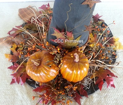 Fall Decorated Witch Hat