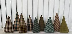 Green Homespun Christmas Trees