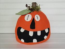 Spooky Halloween Felt Pumpkin
