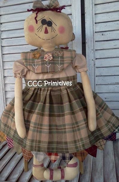 Homespun Annie Rag Doll Pattern