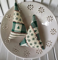 Patchwork Tree Ornaments