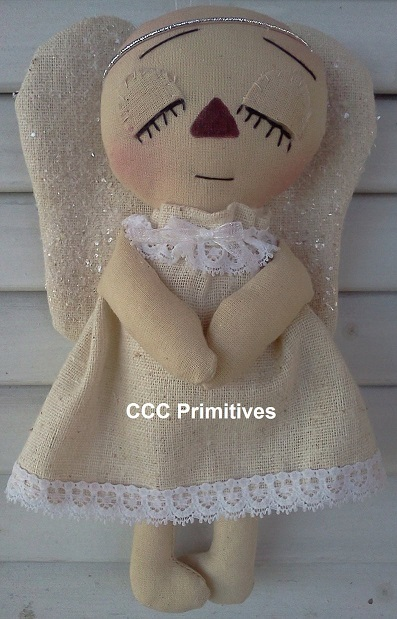 Primitive Angel Ornament