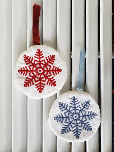 Snowflake Embroidery Ornament