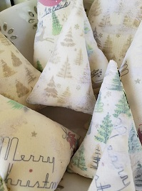 Vintage Fabric Tree Tucks