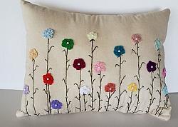 Wildflower Flower Pillow