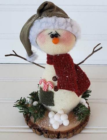 Winter Wool Snowman