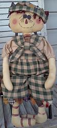 Homespun Andy Rag Doll Pattern