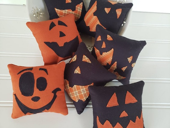 Halloween Jack Faces Bowl Filler