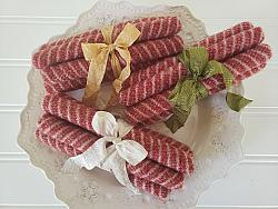 Wool Peppermint Sticks