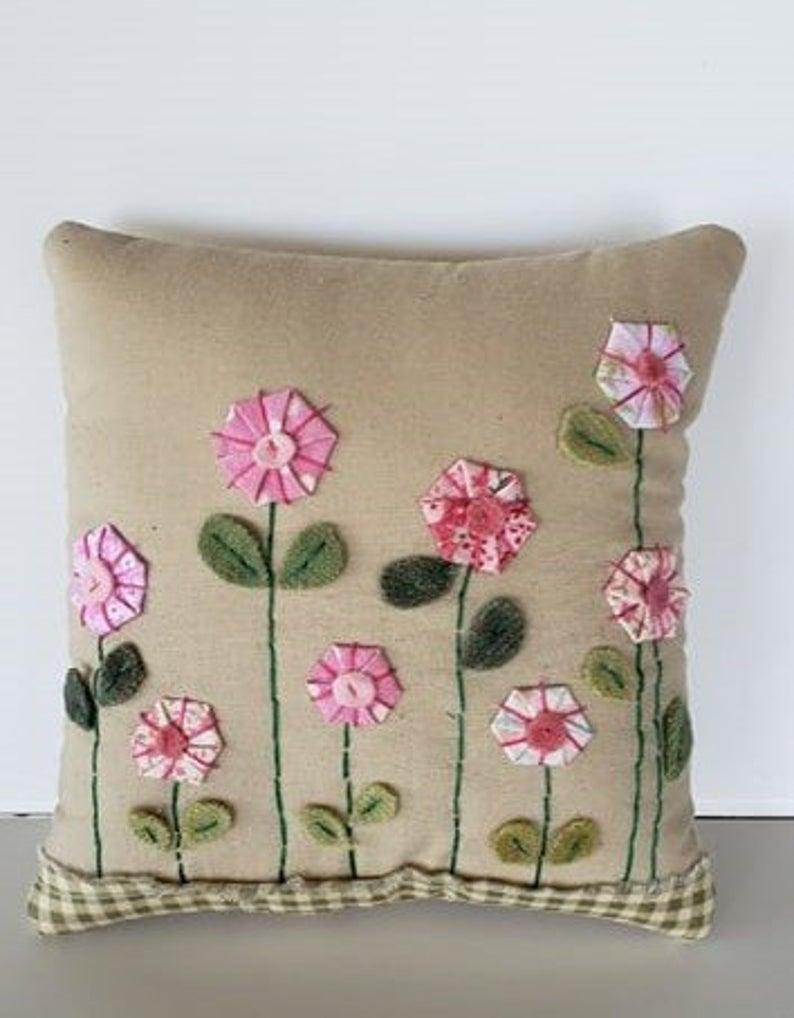 Pink Flower Pillow