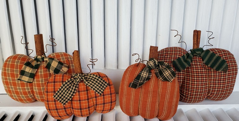 Fall Homespun Pumpkins