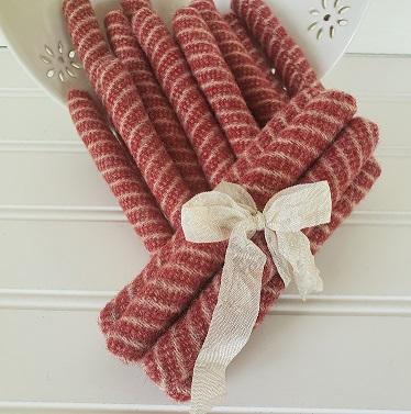Wool Peppermint Sticks