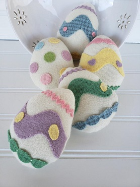Wool Easter Egg Bowl Filler