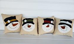 Snowman Pillow Bowl Filler