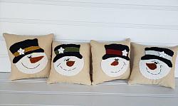Snowman Pillow Bowl Filler