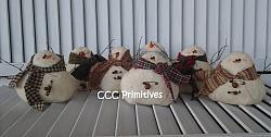Winter Gathering of Snowman Set