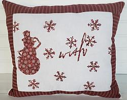 Snowman WISH Pillow