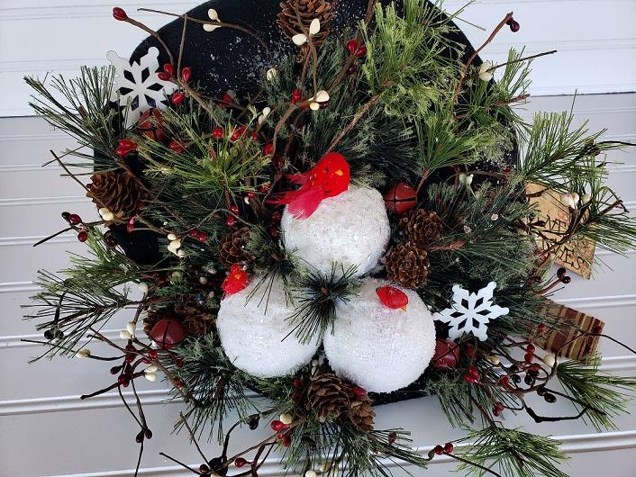 Snowman Hat Arrangement