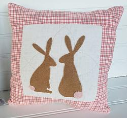 Wool Spring Brown Bunny Pillow