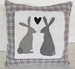 Wool Farmhouse Bunny Pillow