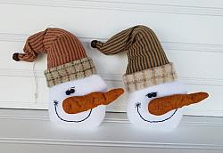 #o176 Wool Snowman Ornament Set